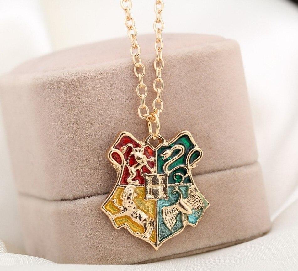 HTB1VYEtQXXXXXaXXpXXq6xXFXXXP - Harry Potter Symbol Badge Necklace Gold Hogwarts