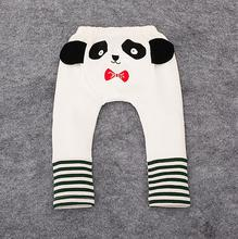 Childhood Shop New Baby Pants Infant's Wear Terry Cotton Cartoon Panda Printing PP Pants Child Unisex Baby Boy and Girl Trousers