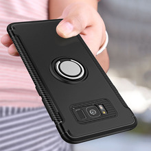 Luxury Shockproof Armor Case For Samsung Galaxy Note8 S8 Plus S7 Edge Metal Ring Holder Stand Cover For iphone X 8 7 6 Plus Case