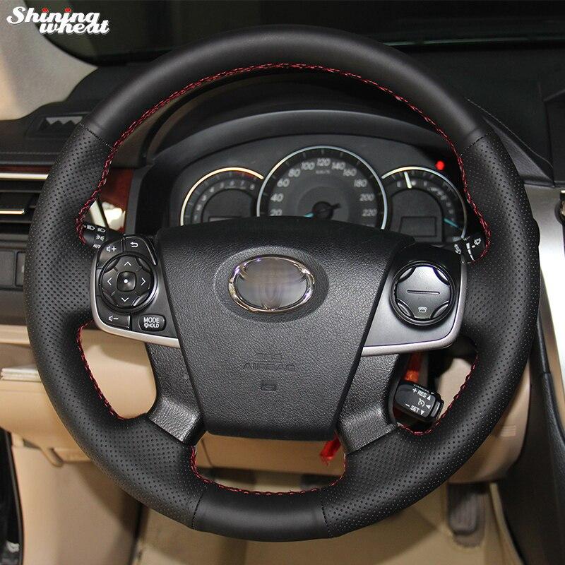 Shkëlqim i grurit Mbulesa e rrotave artificiale të rrumbullakëta me dorë të zezë për Toyota Camry 2012-2015