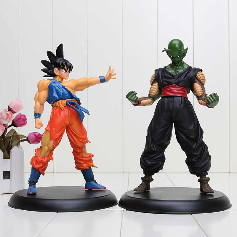 2 pçs/set 23 cm Anime Dragon ball Z Son Goku e Piccolo Super Saiyan rei demônio ação pvc toy figuras Dragon ball figuras