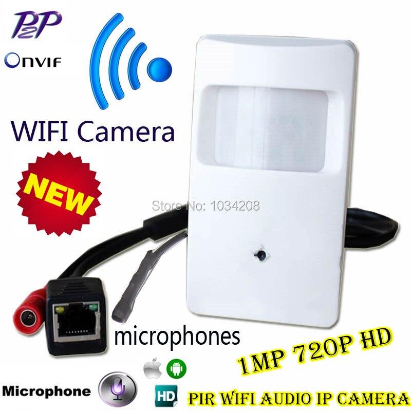Дешевые Onvif 720 P IP WI-FI скрытой Камера детектор движения HD ПИР Стиль Беспроводной IP Камера мини Ip Камера WI-FI p2P безопасности