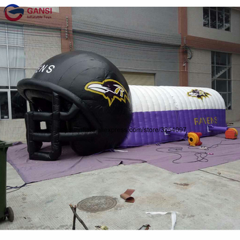Factory price inflatable football tunnel tent, customized inflatable football helmet tunnel for sport events цена 2017