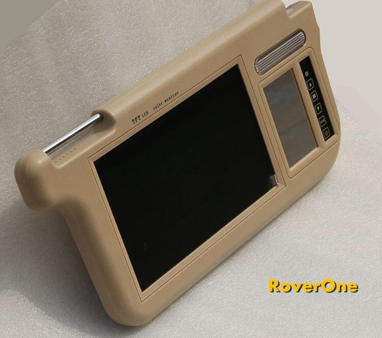 2 pièces X 7 ''pouces Coach Bus voiture pare-soleil TFT LCD moniteur HD voiture vidéo pare-soleil affichage + DC 12 V + rétroviseur