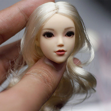 1/6 scale female little young girl head sculpt red scarf silver hair headplay model movable eyes for 12 inches action figures 1 6 scale kt005 female head sculpt long hair model toys for 12 inches women bodies figures