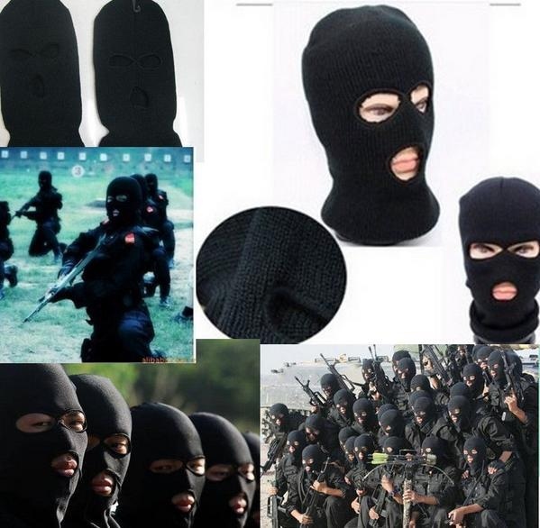 5pcs lot Full head Cover Knit Ski CS robber Mask Hood Balaclava Beanie Army  Stocking Hats Scarf Cap wigs winter windproof face 0ac048d1e9a