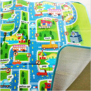 Image 4 - 0.5 cm Thick Town City Traffic Baby Crawling mat EVA Foam Climbing Pad  Green Road Childrens Play Mat Carpet for Baby