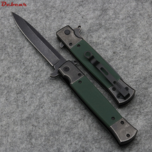 Dcbear High Quality Flash Tanto Folding Pocket Knife 440C Blade G10 Handle Camping Survival Knife HUNTING KNIFE