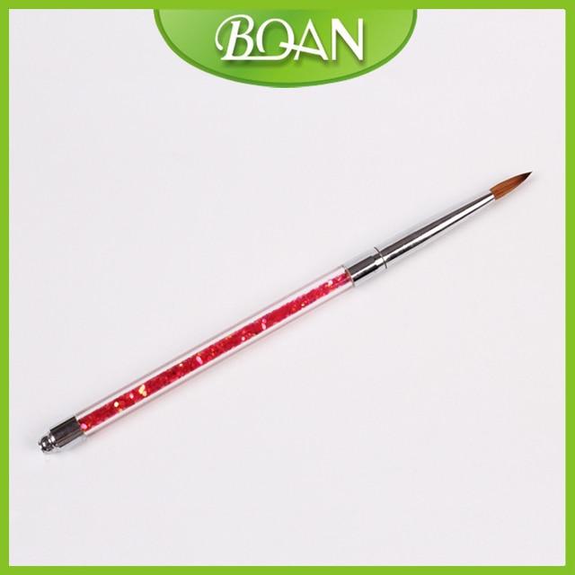 BQAN Glitter Acrylic Handle Pure Kolinsky Nail Art Brush Nail ...