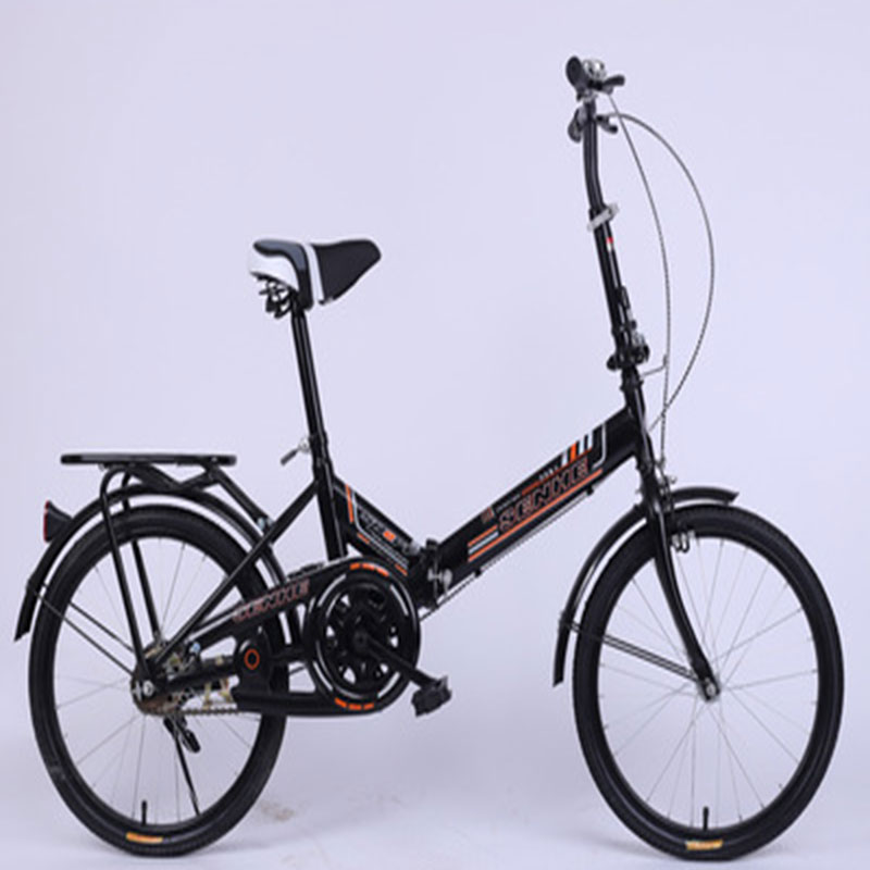 Folding Bicycle Mini 20Inch Colorful Ultra Light And Single Speed With Double Disc Brakes For Adults