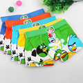 5pcs/lot Angry bird cartoon  children boxer underwear boy cotton panties For 3-11 Years children