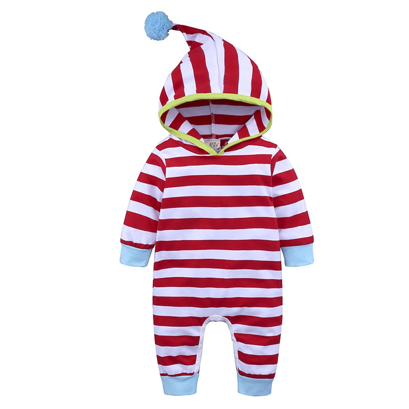 Soft 0-24M Newborn Baby Girl Boy Long Sleeve Cotton Button Hooded Romper Jumpsuit Clothes Spring Autumn Clothing