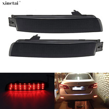2PCS LED Bumper Reflector Light Red/Black Lens Tail Brake Fog Lamp for Infiniti FX35 FX37 FX50 Nissan Juke Murano Sentra Quest beler 2pcs right left fog light lamp with h11 halogen 55w bulb assembly for nissan cube juke murano infiniti ex35 ex37 qx50
