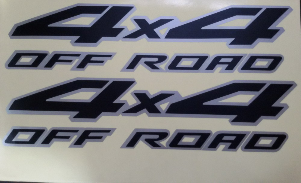 """4X4 OFFROAD Style Truck SET OF 2 Decal Stickers 12/""""x5.5/"""" PINK or Choose Color!"""