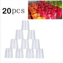 Экологичный 20 шт прозрачный пластиковый одноразовый вечерние рюмки чашки для желе Tumblers день рождения клуб Wineware баров пабы дома