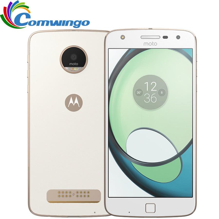 Originais Motorola MOTO Z JOGAR XT1635-01 32 3 GB de RAM GB ROM Octa Núcleo 5.5 ''Android 6.0 16.0MP 1920 * 1080G LTE 4 Smartphones Moto