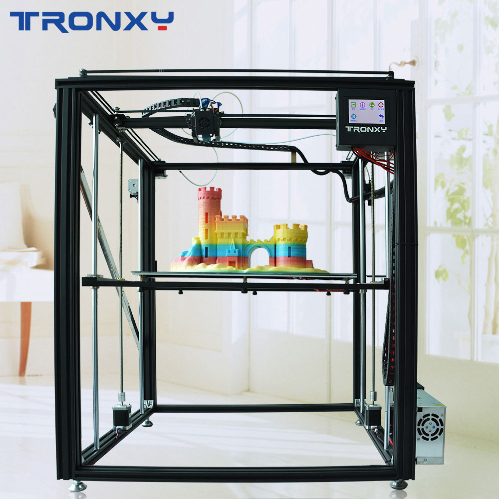 TRONXY 3D X5ST-500-2E dual núcleos de cor DIY máquina impressora de impressão de grande porte MK8 extrusora