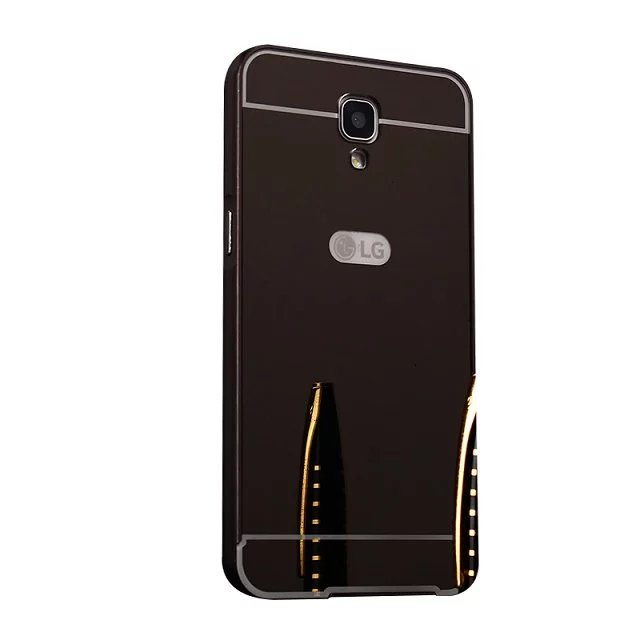 Hot Sale Plating Mirror Aluminum Metal Bumper + Acrylic Alloy Plastic Back Phone Cases For LG X Screen K500Y 4.9 Cover Capa