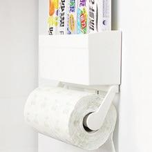 Magnetic KicthenTowel Rack for Refrigerator Adjustable Kitchen Paper Towel Holder Bathroom Tissue Accessories