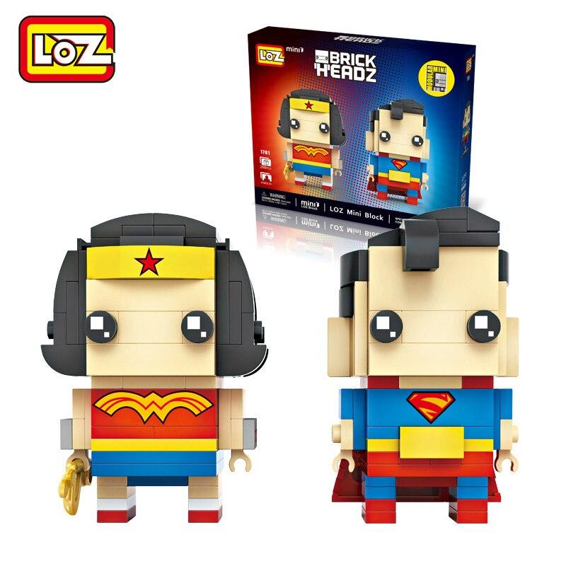 LOZ Wonder Woman кирпич игрушки строительный Конструкторы фигурку Дети Игрушечные лошадки Brinquedos Menino Juguetes