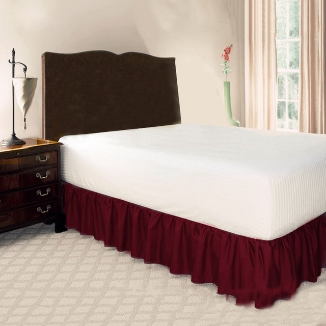 Wine red Queen bed with drawers 5c64f31fa90c7