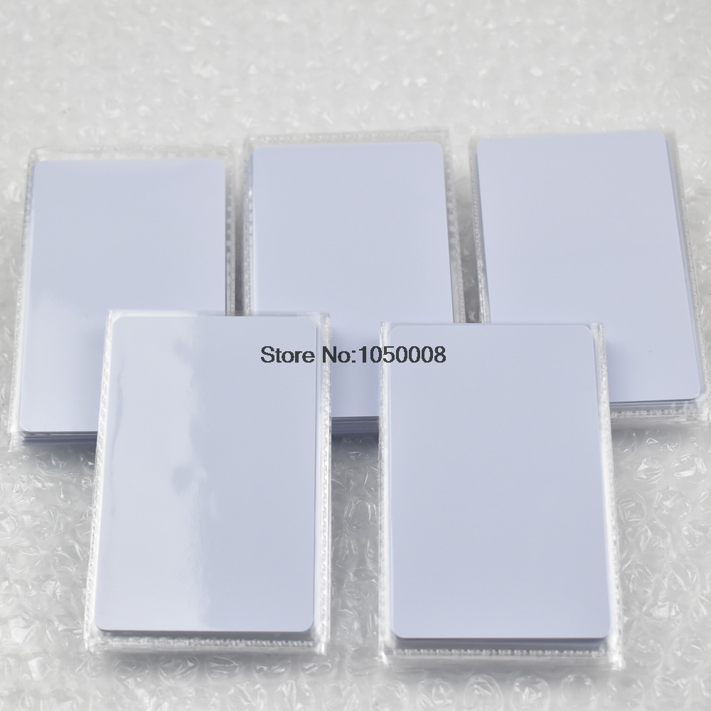 50pcs ISO14443A NFC Card RFID Smart Tag 1k NTAG215 Chip White Card for All NFC enabled devices 50pcs 13 56mhz rfid pvc blank white card with fudan 1k s50 chip iso14443a for access control nfc