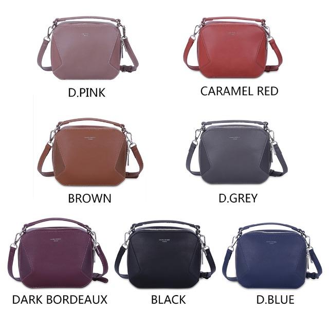 c5722abf940f DAVIDJONES Women Shoulder Bags Small Lady Patchwork Handbag