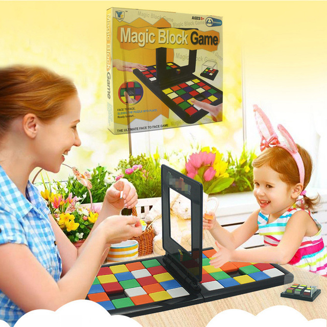 Puzzle Cube 3D Puzzle Race Cube Board Game Kids Adults Education Toy Parent-Child Double Speed Game Magic Cubes 4