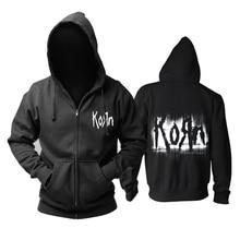 Bloodhoof Korn Nu Metal  heavy metal Mens black hoodie Asian Size