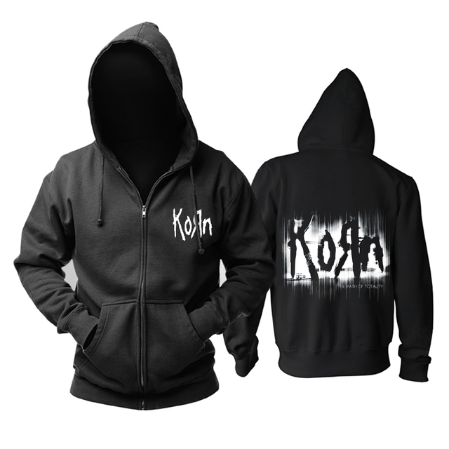 Bloodhoof Korn Nu Metal  heavy metal Mens black hoodie Asian Size
