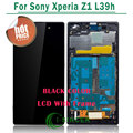 For Sony for Xperia Z1 L39h LCD Screen Display Digitizer Assembly with frame - black/white Free shipping