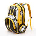 2016 Hot Sale SchoolBag Children Primary School Student 1-3-6 3D Car Lightening School Bag Boys GIft Backpacks Mochila Infantil