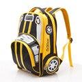 2016 Hot Sale SchoolBag Children Primary School Student 1-3-6 3D Car Lightening School Bag Boys GIft Backpacks Mochila Infantil