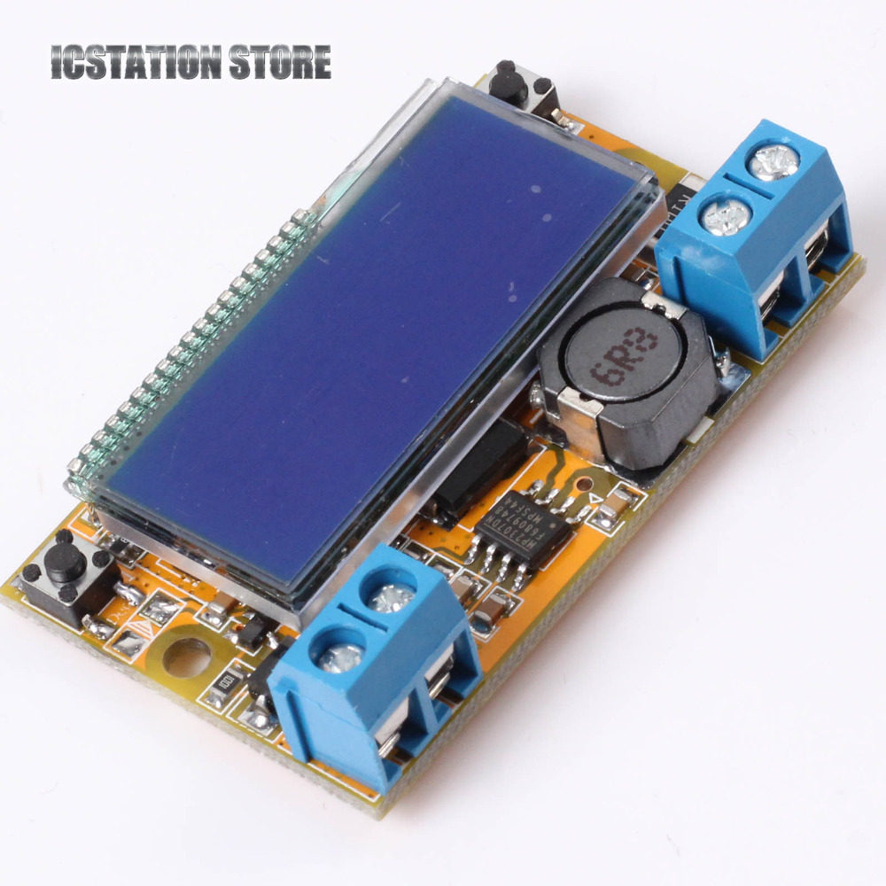 Adjustable DC-DC Step-Down Buck Power Module Regulator Voltage+Current LCD Dual Display 5V-23V to 0-16.5V Ammeter Voltmeter constant digital voltage current meter step down dp50v2a voltage regulator supply module buck color lcd display converter