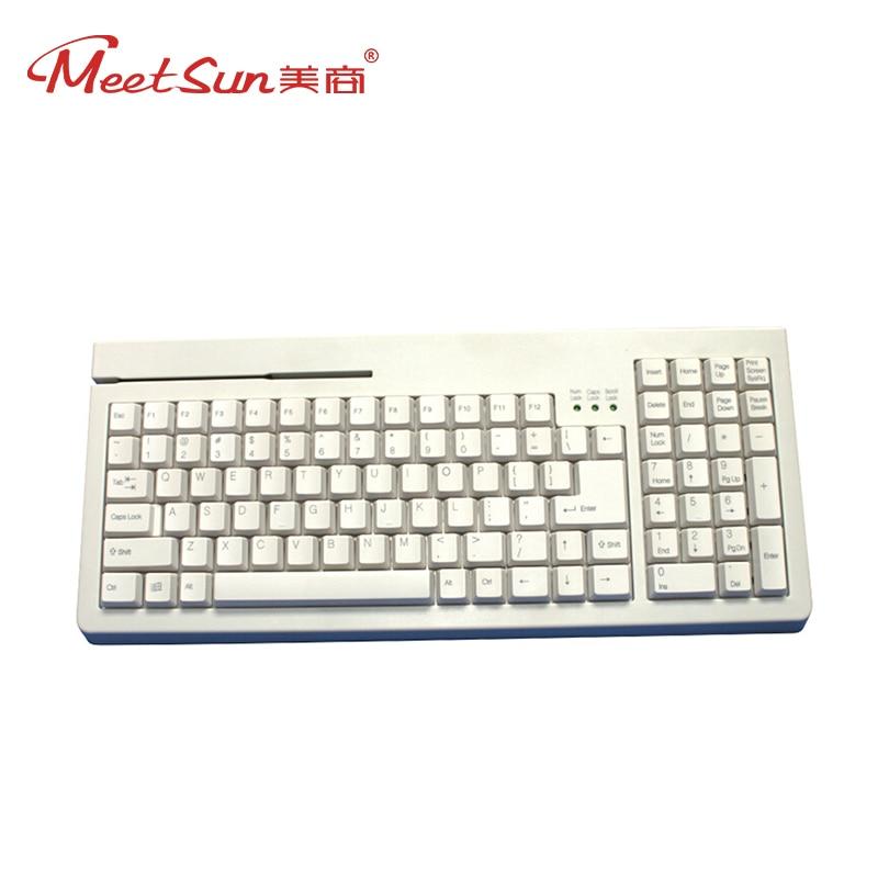 Meetsun MS-KB101 German Keyboard Core 101 Keys Keyboard USB Port Wired Keyboard for Pos System Cash Register Desktop PC White
