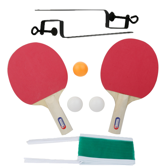 2016 Hot Sale Table Tennis and Grid Ping Pong Racket Two Sides Sponge Long Handle for Child Z607