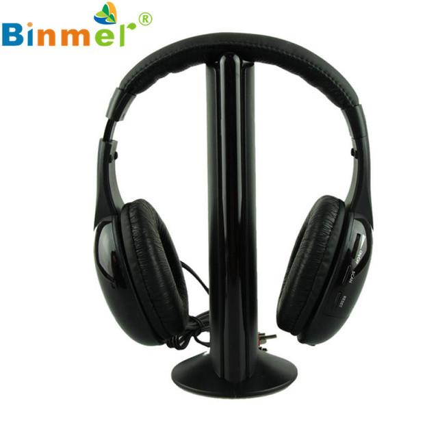 Adroit Sans Fil Casque Áudio Écouteur 5IN1 fone de Ouvido Sem Fio Hi-Fi Radio FM TV MP3 MP4 DEC16