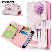 Case For IPhone 5 5C 5S SE 6 6S Plus 7 Plus Multifunction Stand Printed Wallet