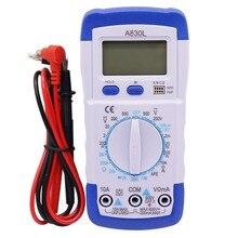 1 pcs A830L LCD Digital Multimeter DC AC Voltage Diode Freguency Multitester Volt Tester Test Current