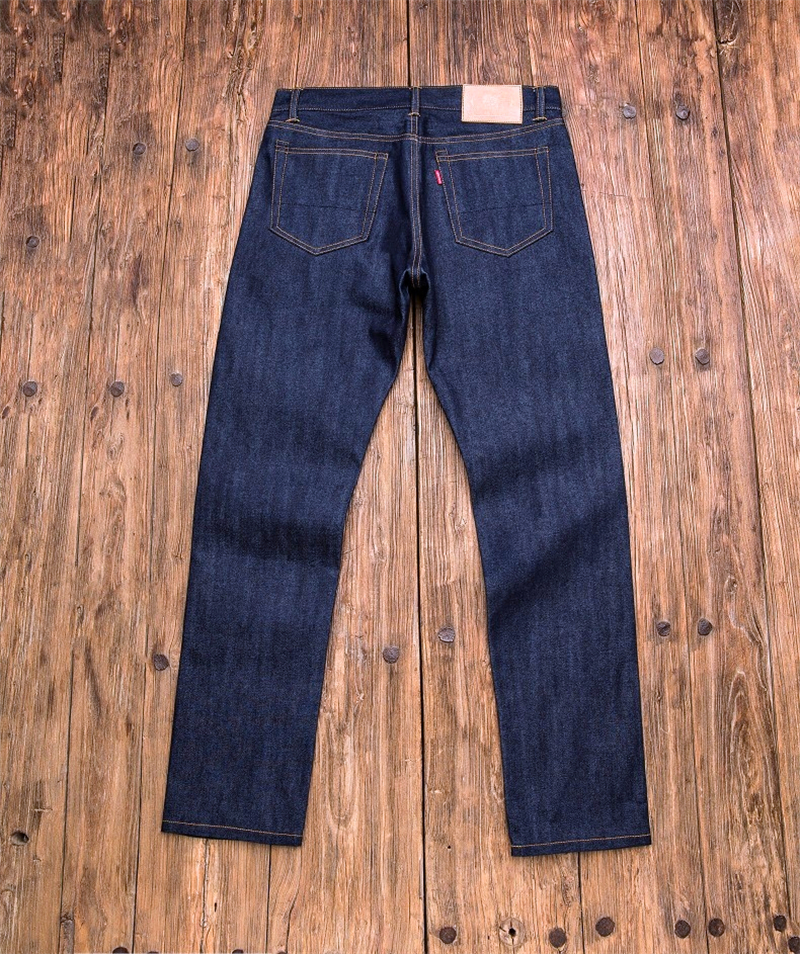 Read Description! natural raw indigo selvage unwashed 13oz denim pants unsanforised thick raw denim jean 511XX-0007 raw trim denim sandals