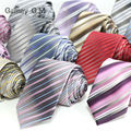 New Fashion Striped ties For men 7cm width Classic Mens Neckties For Business Party Groom Neckwear polyester Microfiber Tie