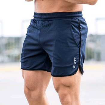 New Men Fitness Bodybuilding Shorts Man Summer  Workout Male Breathable Mesh Quick Dry Sportswear Jogger Beach Short Pants 1