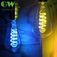 E27 220V LED Filament Bulb 4 Color Edison Bulb Candle Light Globe Chandelier Home Decorative Lamp