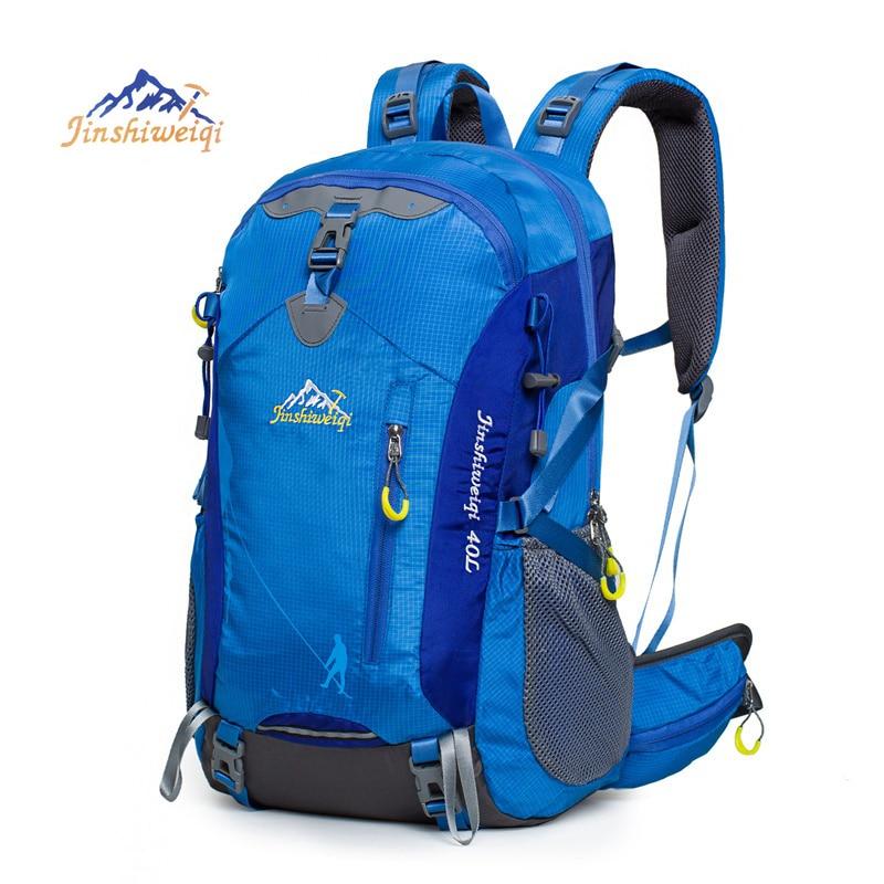 40L Outdoor Backpack Camping Bag Waterproof Hiking Backpacks Travel Sport Bag External Frame Climbing Rucksack