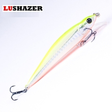 2017 new arrival LUSHAZER lure fishing minnow active tongu 9cm/9g freshwater hard minnow lures fishing tackle free shipping