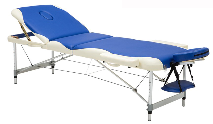 Adjustable Folding Massage Table With Bag Made Of PVC leather And Aluminum Alloy Leg