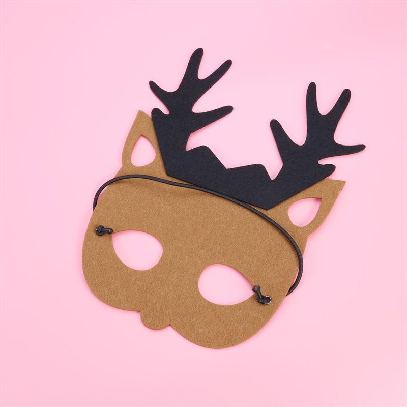 Christmas Reindeer Headband Antlers /& Mask Set