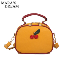 94ffeed95ba7 Mara s Dream Lovely Women Cherry Handbag Mini Shoulder Bag Lady Candy Color  Small Solid Bags Crossbody