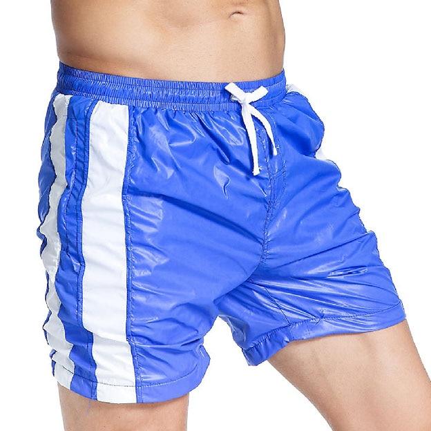 Summer New Men Beach Shorts Drawstring Mens Casual Shorts Knee-length Quick Drying Fitness Male Beach Short Trunks