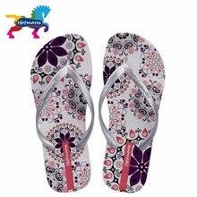 Hotmarzz Women Summer Bohemia Beach Sandals Flat Flip Flops Ladies Fashion Slippers 2017 Indoor Shoes Silver Floral Slides
